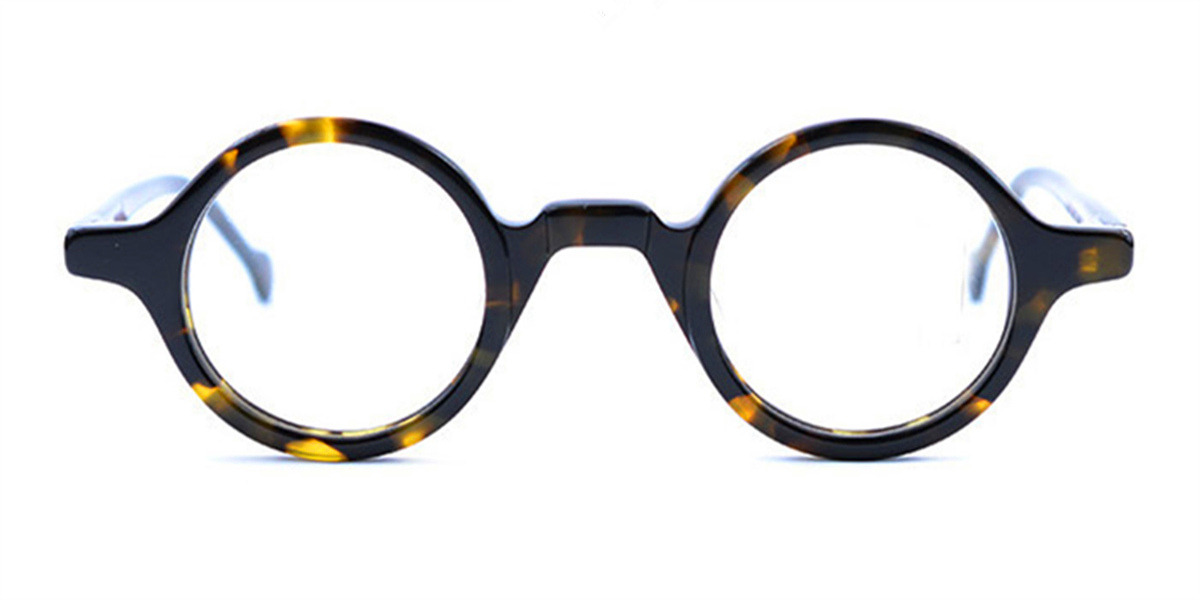 Vintage Super Small Round glasses for men Tortoise