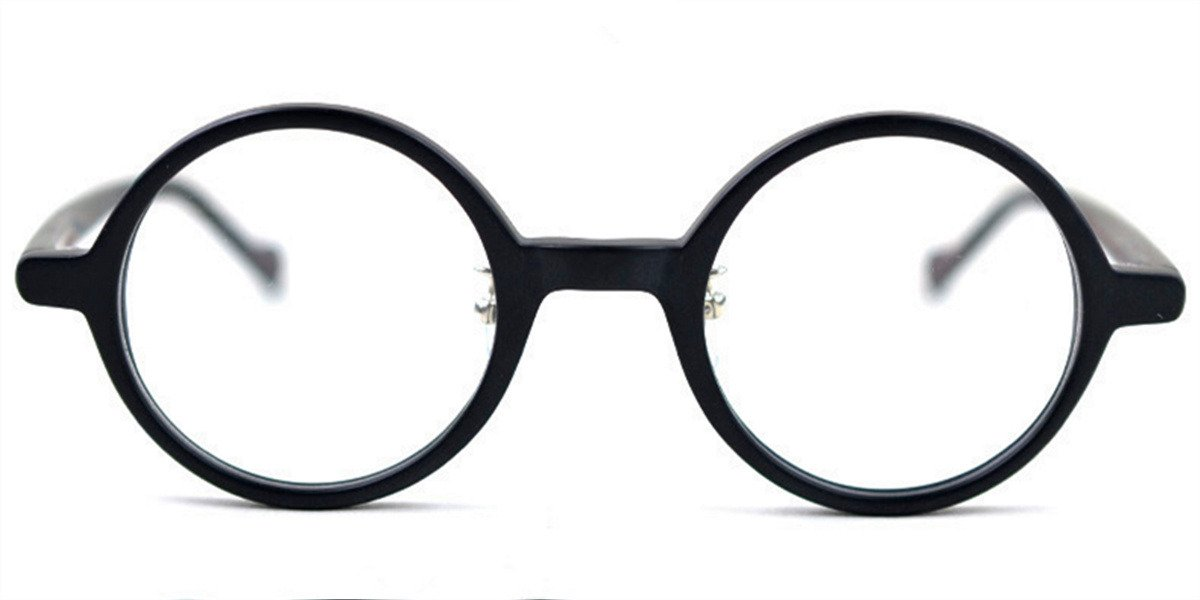 Vintage Small Round glasses for men Matte Black