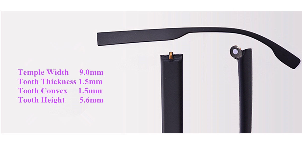 Eyeglass replacement temple arms-9mm