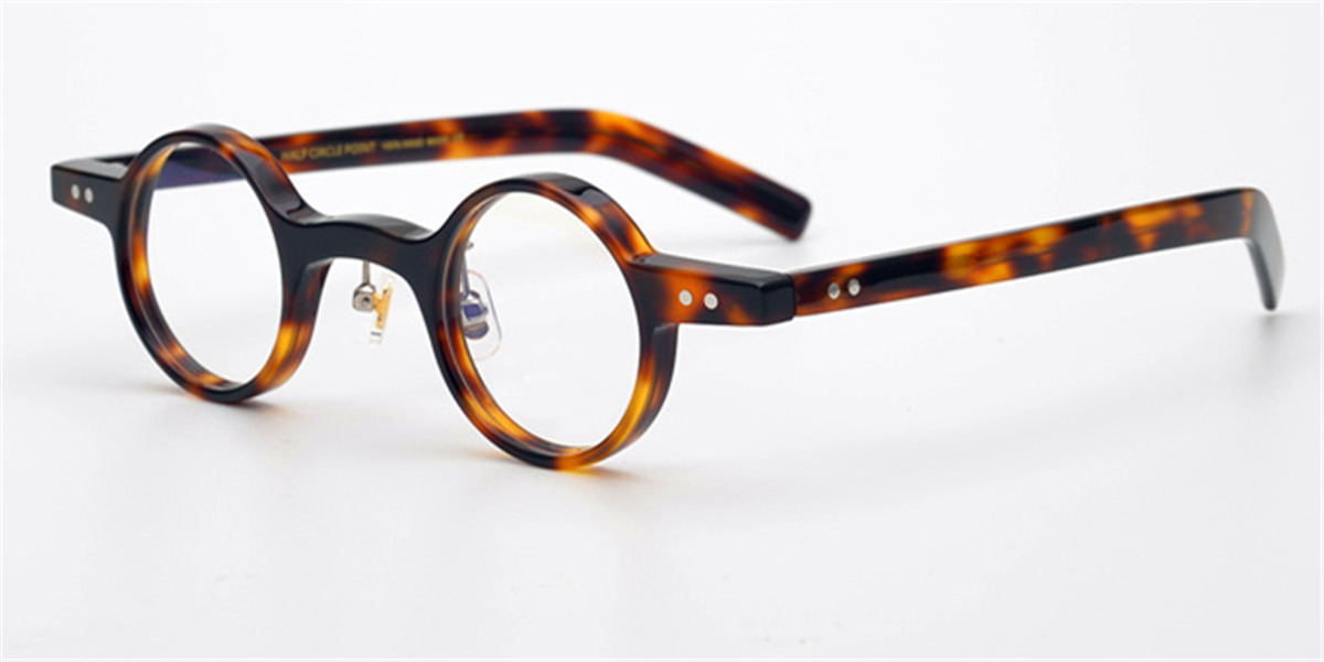 wide rim round high prescription glasses