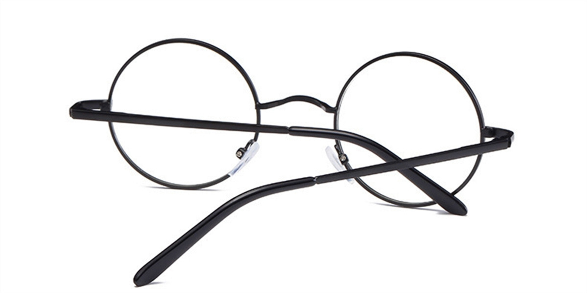 Discount round glasses for men, Black Retro-b
