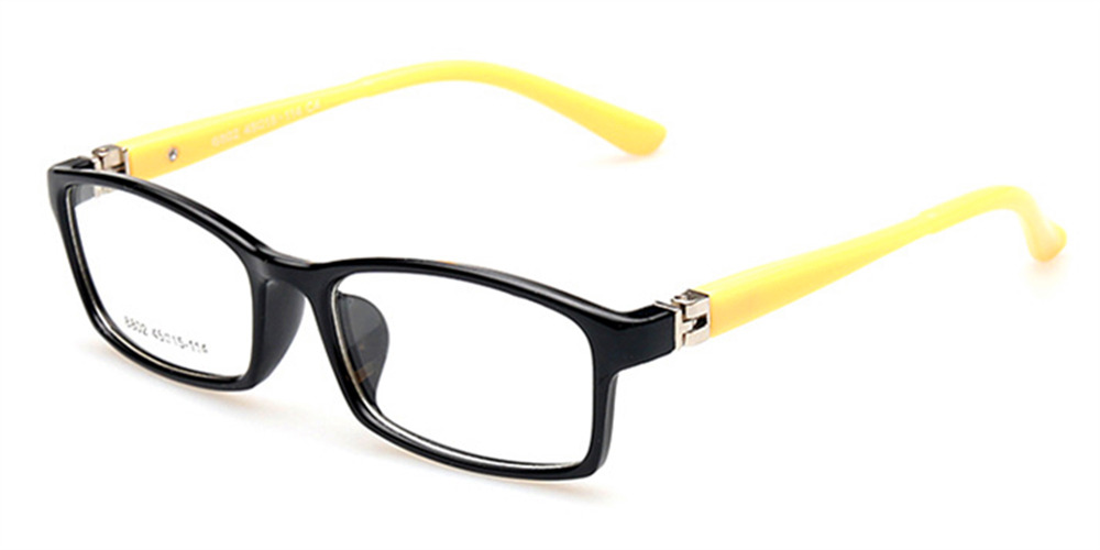 Kids Sports Glasses Black Yellow frame