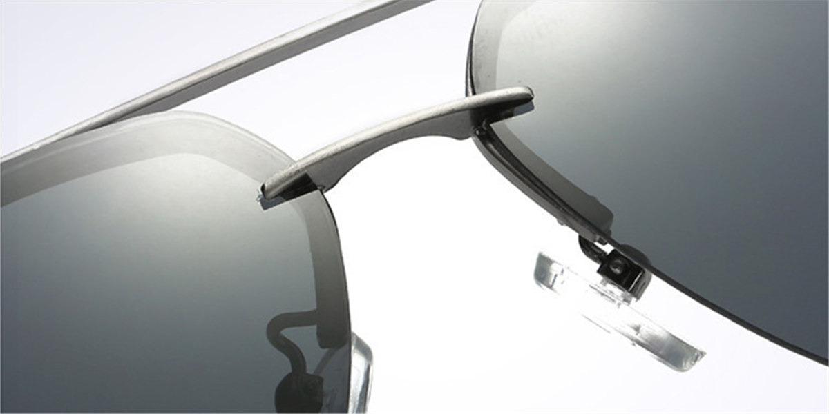 Black Rimless Glasses-d