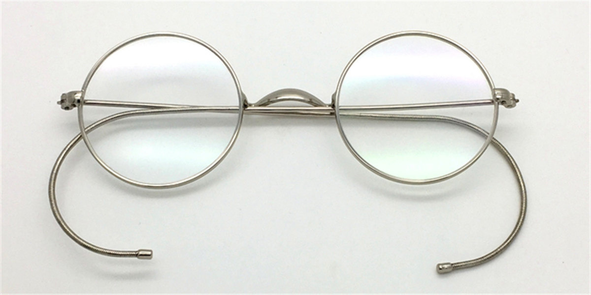 Discount Silver Cable Temples Glasses for Men 43mm-f