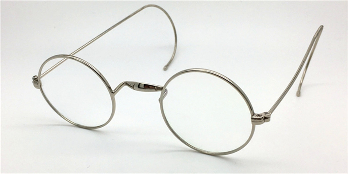 Discount Silver Cable Temples Glasses for Men 43mm-l