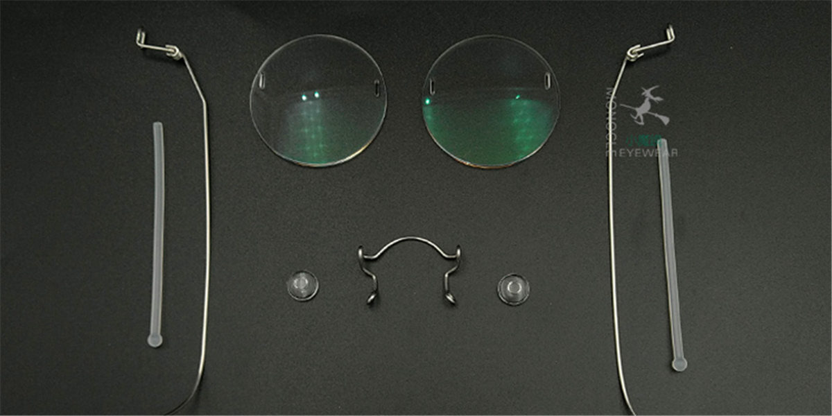 Round Glasses for Men, Manual custom made frameless glasses -8