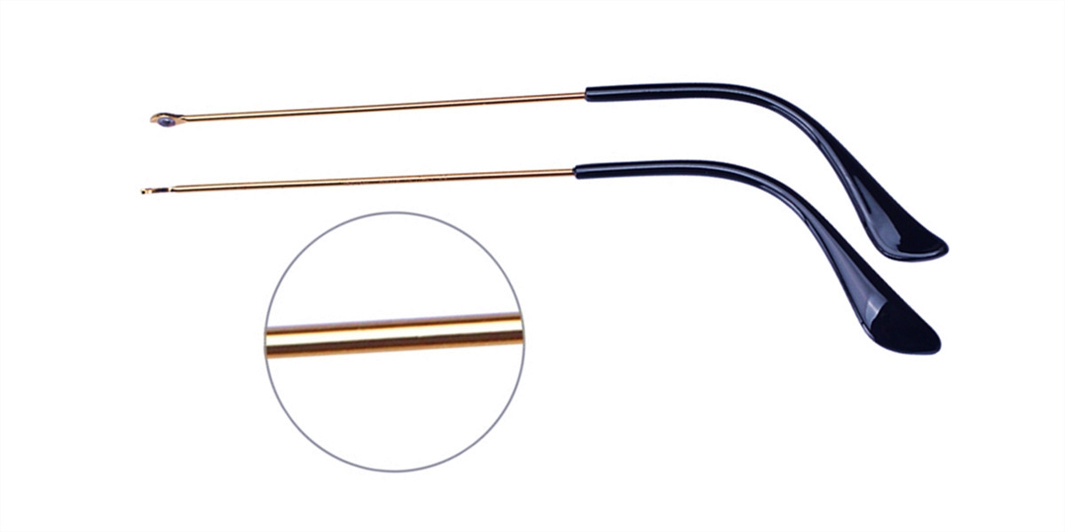 Golden Eyeglass replacement temple arms