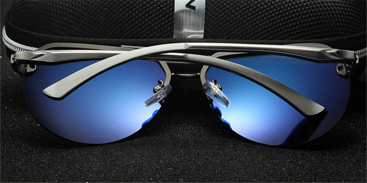 Mirror Frameless Sunglassess-back