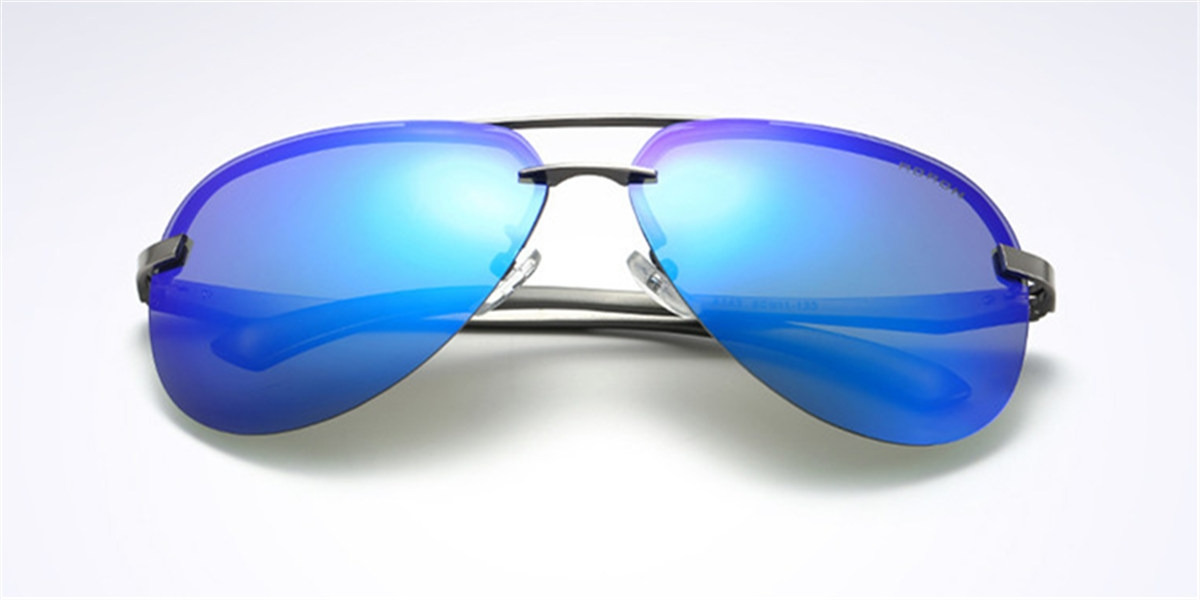 Mirror Frameless Sunglassess-front