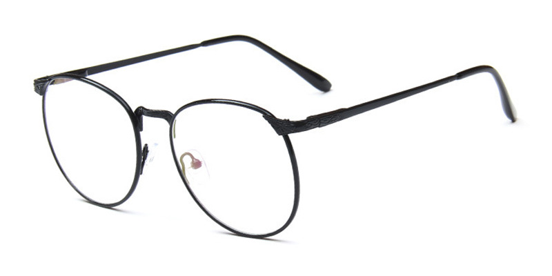 No line bifocals lenses fit frames, Vintage Black