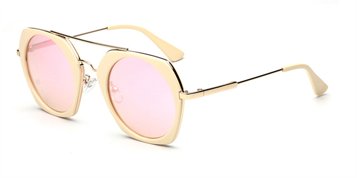 Prescription Sunglasses with Hexagon Hipster Frames