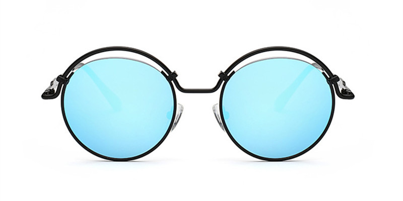 Prescription Designer Sunglasses, Flash Blue Lenses