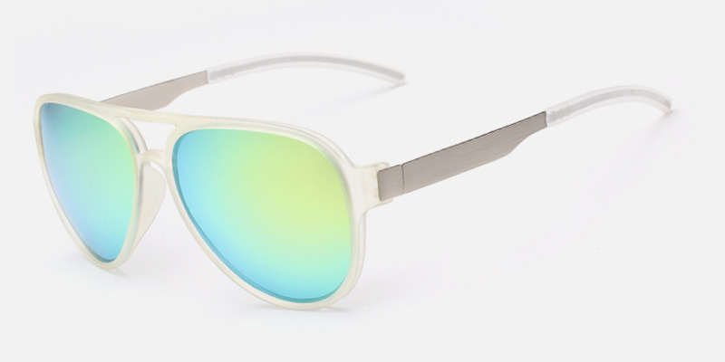 Wide-brimmed Hipster Prescription Sunglasses Yellow lenses
