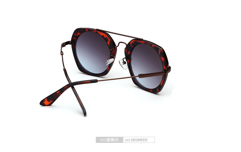 Tortoise Prescription  Acetate Sunglasses Hexagon Frames