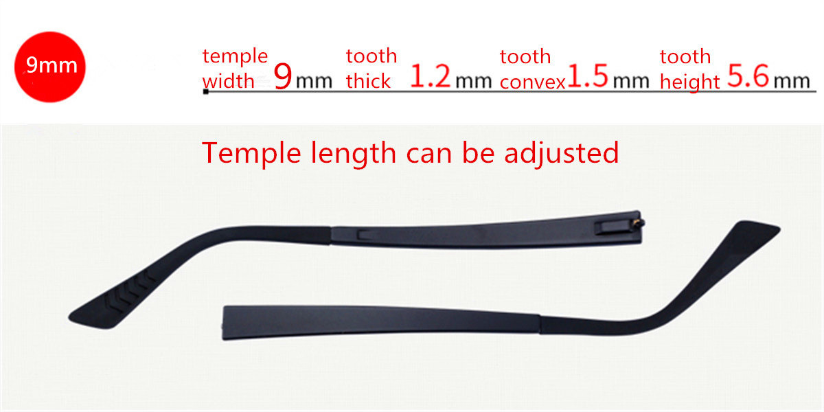 Adjustable Eyeglasses temple for eyeglasses replacement