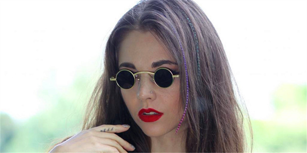 prescription designer sunglasses-round-golden6