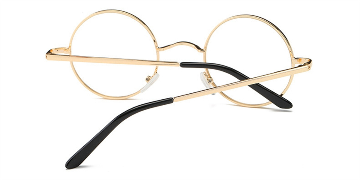 Discount round glasses for men, Retro Golden-b
