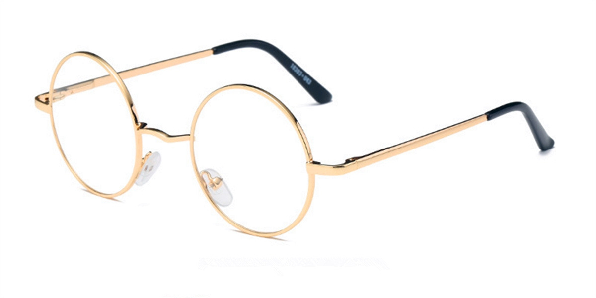 Discount round glasses for men, Retro Golden-l