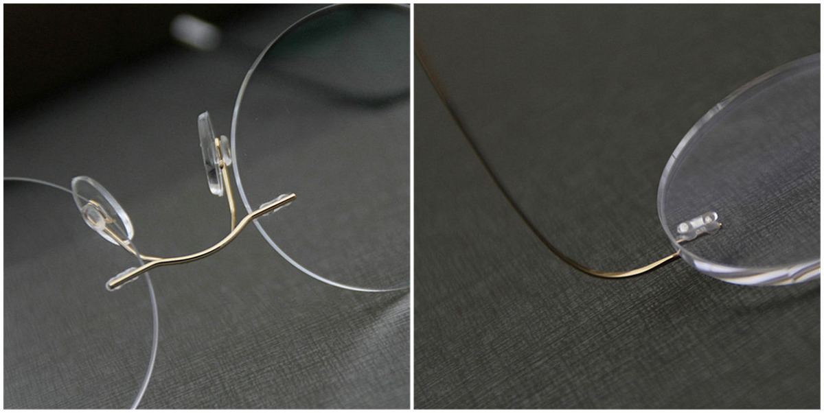 Round Glasses for Men Titanium Rimless-7