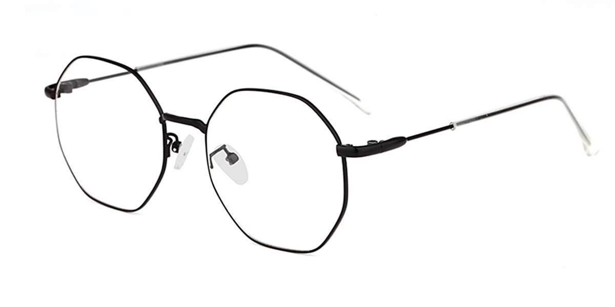 Round Bifocal Lenses glasses, Black