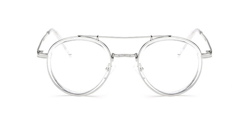 Clear Round Acetate Wrapped Aviator