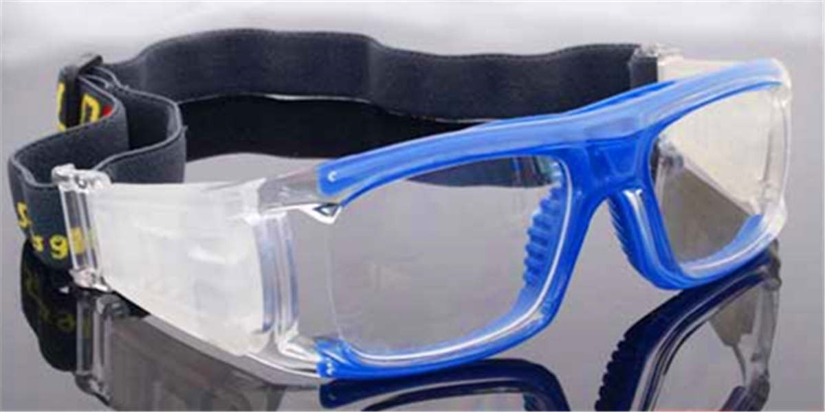 Blue Acetate Prescription Safety Glasses for basketball