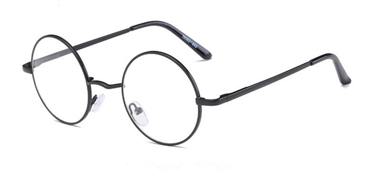 Discount round glasses for men, Black Retro-ll