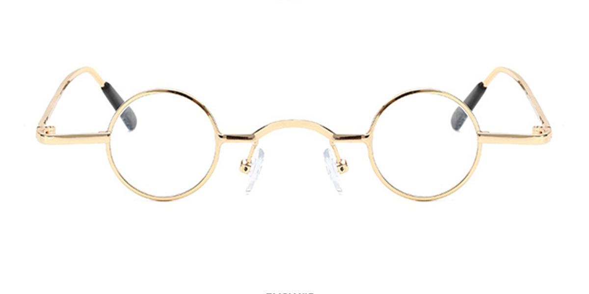 Best Super Small Round Glasses for Men, Golden
