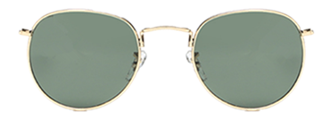 Round glasses with golden frame