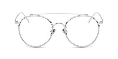 Prescription Hipster with Silver Aviator Frame