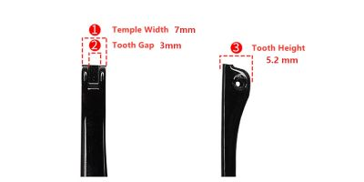 Eyeglasses temple for glasses hinge repair 7 mm temple width