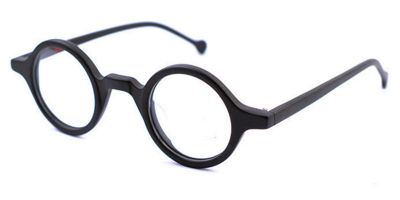 Super Small Round glasses for men Matte Black