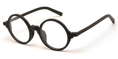 Round glasses for men Black Woodgrain