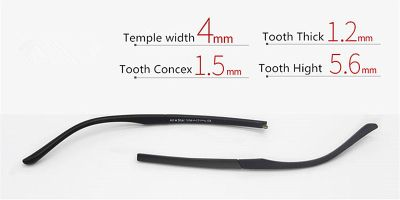 Replacement temples for glasses width 4mm