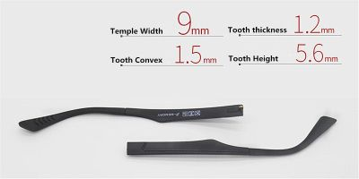 Replacement temples for glasses width 9mm