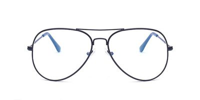 Hipster eyeglasses with Black Aviator Frame