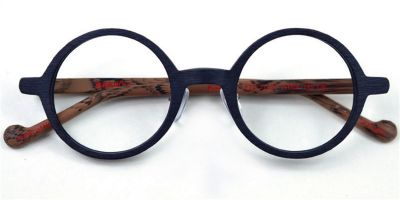Small Round glasses for men wood grain eyeglasses