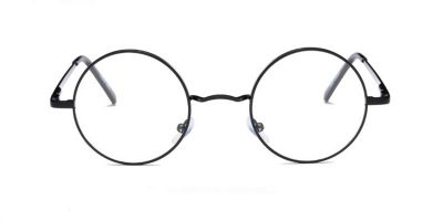 Discount round glasses for men, Black Retro