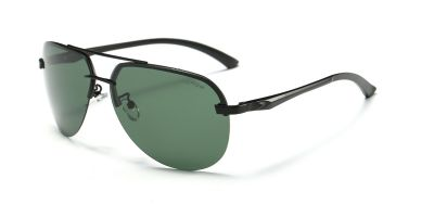 Flash Lens Rimless Sunglassess Avistor Green Lenses