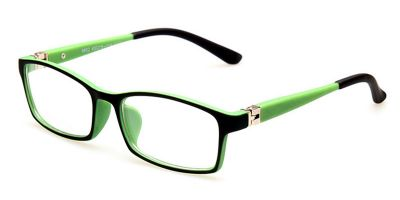 Spring Hinge Glasses Black Green Frame