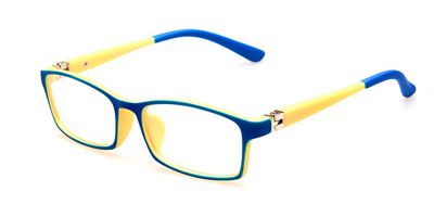 Eyeglasses for Kids with Blue Yellow Frame