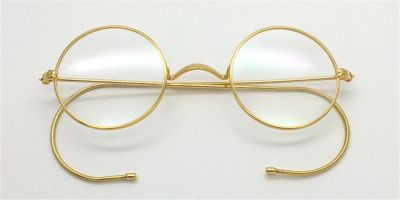 Discount Golden Cable Temples Glasses for Men 43mm