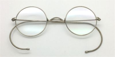 Discount Silver Cable Temples Glasses for Men 41mm