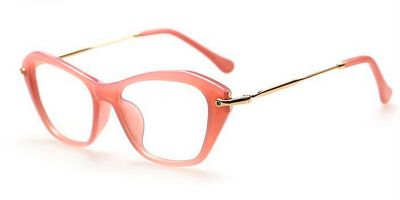 Cheap Cat Eye Frames with Golden Metal Temple