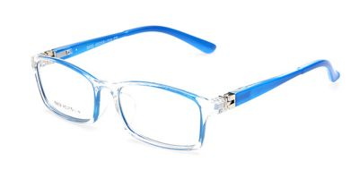 Girls glasses with crystal blue wayfarer Frame