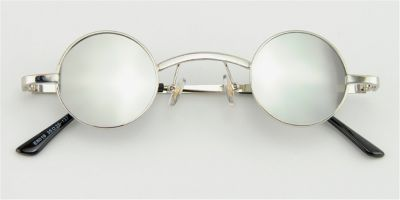 Vintage Round Glasses for Men, Super Small, Silver Lenses
