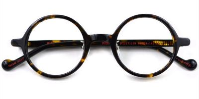 Acetate Vintage Small Round glasses for men Tortoise