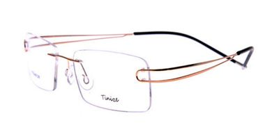 Titanium Frames Golden Twin Temples for Frameless Glasses