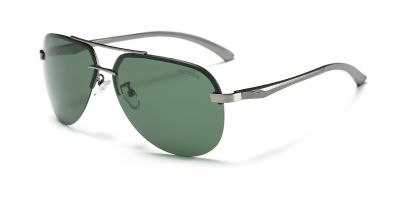 Polarized Rimless Sunglasses Gun Avistor Frame