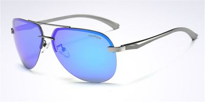 Prescription frameless glasses & sunglasses Gun Grey